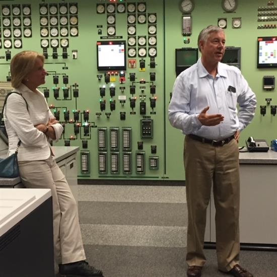 Upton And Senator Shelley Moore Capito Tour Cook Power